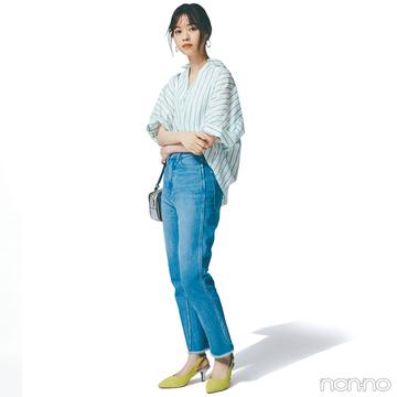 西野七瀬はデニム+ビッグシャツで大人のスタイルアップコーデ【毎日コーデ】
