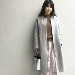 くすみピンク×ブラウンの今っぽ配色で冬の休日スタイル