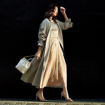 【春の「無地見え」スカート】ロング丈×柄スカート初心者さんも安心の華スカート