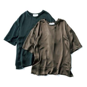 大人のための名品トップス『Chaos』シルクフィブリルTシャツ