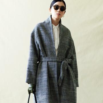 リジエールの「グレンチェックロング」コート【今季買うべき「指名買いコート」】