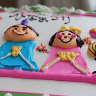 コストコのBIGケーキもひな祭り仕様に♪