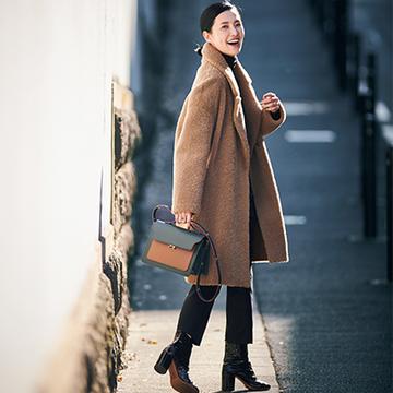 """モデル・浜島直子さんの""""よくほめられる一着""""は?<おしゃれプロのほめられ冬アイテム>"""
