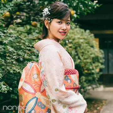 渡邉理佐の振袖コーデ♡ ピンクは同系色合わせで上品&可愛らしく【成人式2019】