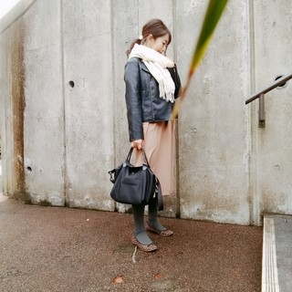 Jacket:anysis,Onepiece:nano・universe,Bag:longchamp,Shoes:anysis
