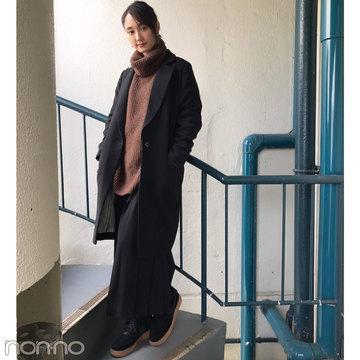 鈴木友菜、冬はDHOLICのプリーツスカートコーデが気分!【モデルの私服】