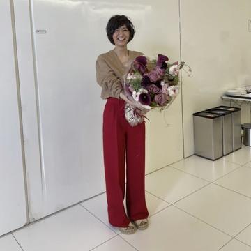 [富岡佳子private life]6月号表紙撮影