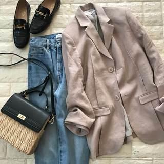 プチプラでも上品!暖かい日のジャケットコーデ【高見えプチプラファッション #155】