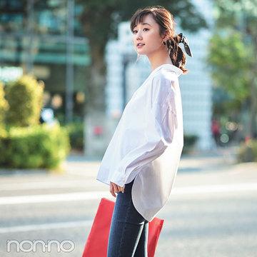 ノンノモデル鈴木友菜・春の大人っぽ着こなし、ポイントはこの3つ!