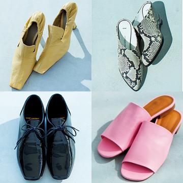 """【50代の甲深靴まとめ】パンプスもミュールも""""甲深""""で存在感のある足もとを演出!"""