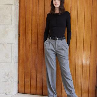 【Style2】フランネルワイドパンツ
