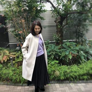 Mila Owenの福袋コーデ続き・黒のドット柄スカート《CFP®認定者ゆっこのファッション》