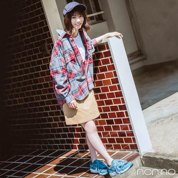 西野七瀬はビッグシャツ×スポ小物でこなれカジュアル【毎日コーデ】