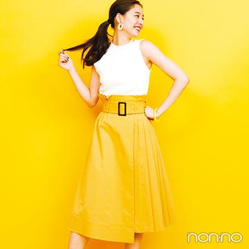 新木優子の夏色コーデ! 元気なひまわりイエローはこう着る♡