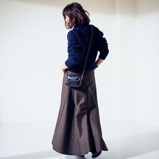■ブラウンスカート×ネイビー