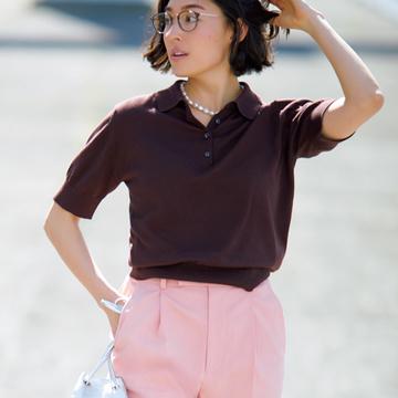 美脚効果ありのきれい色パンツで印象アップ【瞬間着映え服でおしゃれに】