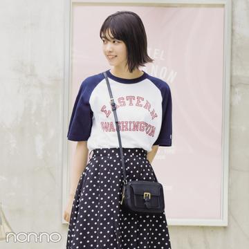 夏に大活躍♡ 西野七瀬のドット柄スカートコーデ3選!