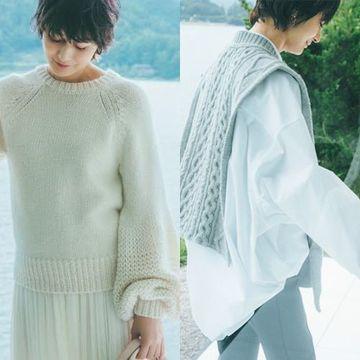 富岡佳子さんが着る50代にふさわしい「極上ニット」【2021秋冬最新ニット】