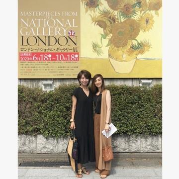 秋色ジレで、ロンドンナショナルギャラリー展へ