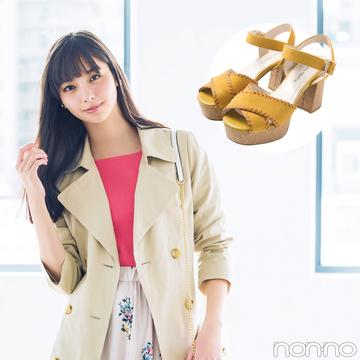 新川優愛が着回す!今も夏も使える神サンダル「厚底ストラップ」★カタログ8選つき!