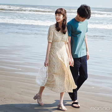 デートコーデならロングワンピースの出番! 海辺で着れば可愛さ満点♡【毎日コーデ】