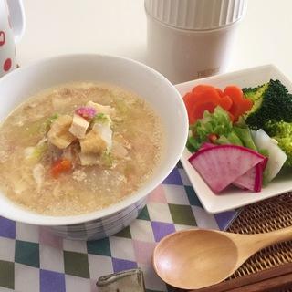 疲れた胃にはヤマノイモ、大根おろしのお粥とスープ