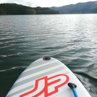 青木湖でSUP