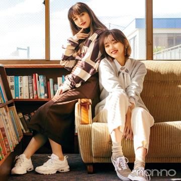 白とベージュのスニーカー★ 一番使えてトレンド顔の最新8選!