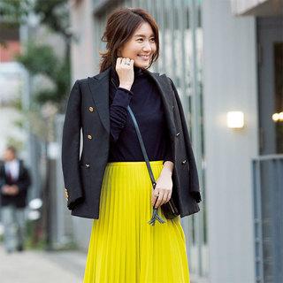 きれい色が主役の華やか冬コーデ・エディター 東原妙子さん【東京ファッションSNAP】