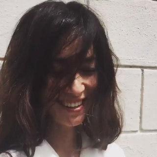 マリソルモデル ブレンダの撮影オフショットムービー。髪で日除け中…