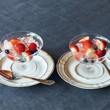 <冬のおもてなしレシピ>おしゃれデザート「レモンゼリーとフルーツ」
