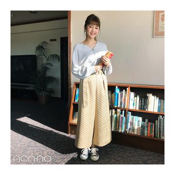 松川菜々花が着るコンバースで大人っぽコーデ【毎日コーデ】