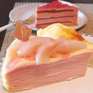 美味しすぎる!カサネオの期間限定『桃』のミルクレープ♡お取り寄せも♪