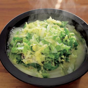 2.白菜と牡蠣の蒸し煮鍋
