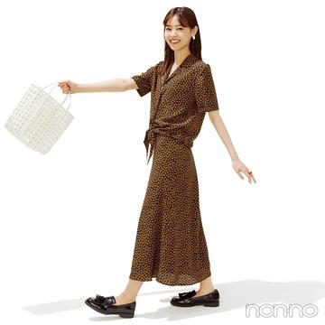 西野七瀬はフレンチシックなセットアップで夏おしゃれ格上げ!【毎日コーデ】
