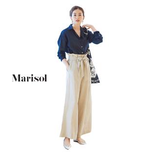 ハンサムなシャツ&パンツコーデもリネン素材で女性らしい繊細さが【2018/7/6コーデ】