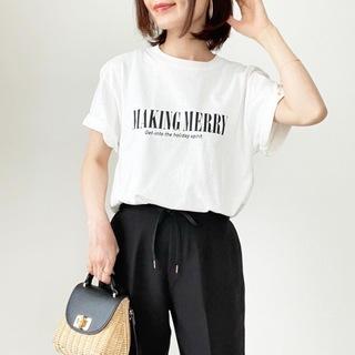今年1枚は欲しい!オーバーサイズロゴTシャツ【tomomiyuコーデ】