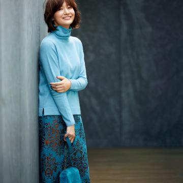 「ランバン コレクション」の秋の新作でそろえるラグジュアリーな大人の普段着