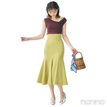 スタイルコンシャスなトップス&スカートで色気も可愛げも振りまいて♡【毎日コーデ】