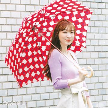 梅雨入りしても岡本夏美のおしゃれが可愛い♡ 雨の日のきれいめ靴も必見!