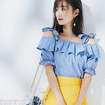 夏まで使えるプチプラ名品♡ GUのイエロースカートが神すぎる!