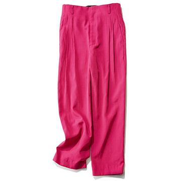 """<坪田あさみさんの""""時短パンツ"""">華やかなピンクが印象的!おしゃれ度UP確実の万能パンツ"""