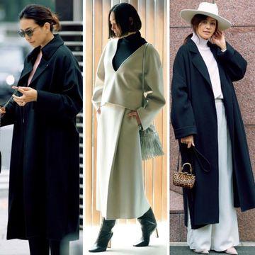 毎日仕様の「黒コート」「黒タートル」を新鮮に着こなす!最旬スタイリング12選