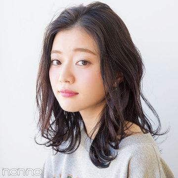 春映えヘアカタログ★ミディアムは部分パーマで華やかに!
