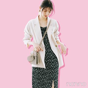 ジャケット&ワンピの定番コーデは肌見せで色っぽく♡【大学生の毎日コーデ】