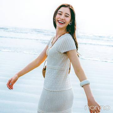 トレンドセッター新木優子がこの夏着たい服vol.5 クロシェ編みワンピース