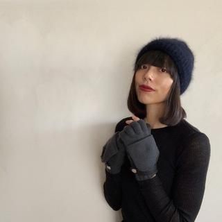冬の手元をエレガントに防寒するエルメスのカシミヤ手袋_1_3-2