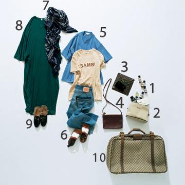 """""""さし色ジュエリー""""を重ねて、ハワイへファッションロケの旅【スーツケースの中身】"""