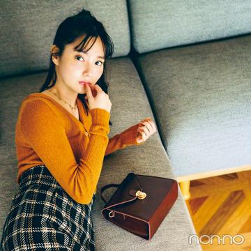 新川優愛の冬の推し服★ チェックのスカートはこう着こなす!