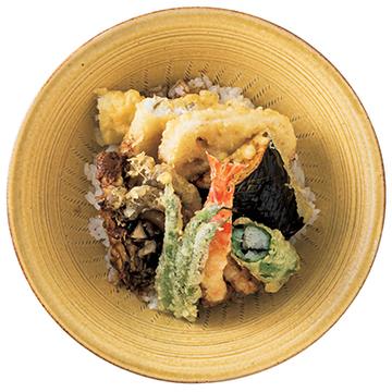 綿実油を使用し、素材の味を引き立たせる 「点邑の天ぷらどんぶり」